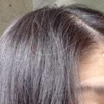 利尻カラーシャンプー6日目の髪、太陽の光だと茶色にみえる!