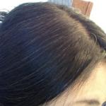 利尻カラーシャンプー9日目の髪の色グレーがかってきました